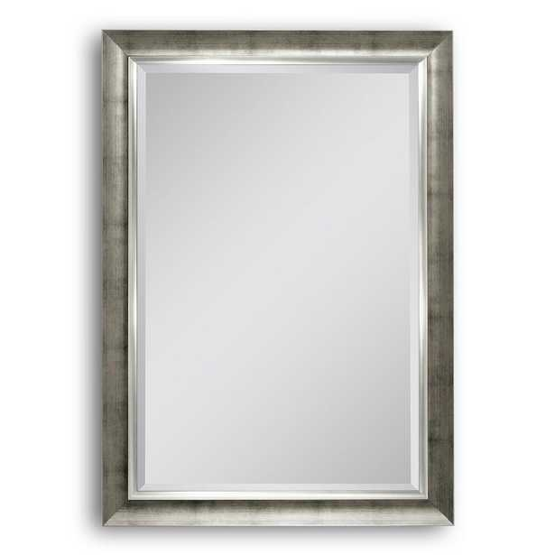 Deco Mirror 30 in. W x 42 in. H Brushed Champagne Wall Mirror, Brush Champagne - Home Depot