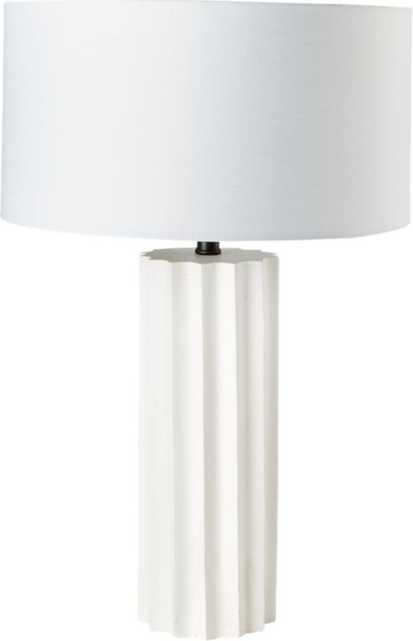 Scallop Concrete Table Lamp, White - CB2