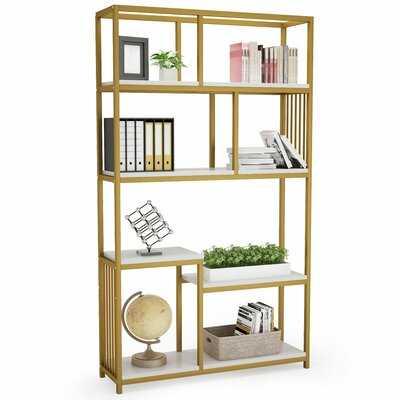 "Makena 70.87"" H x 39.37"" W Standard Bookcase - Wayfair"