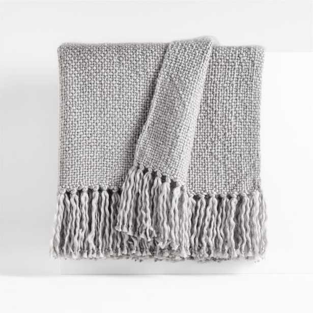 """Styles 70""""x55"""" Alloy Throw Blanket - Crate and Barrel"""