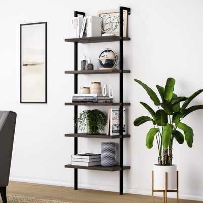 5-Tier Wood Ladder Bookcase,Brown - Wayfair