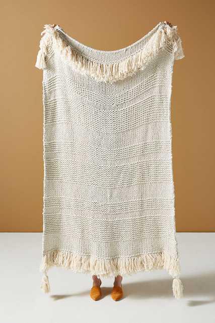 Woven Marley Throw Blanket - Anthropologie