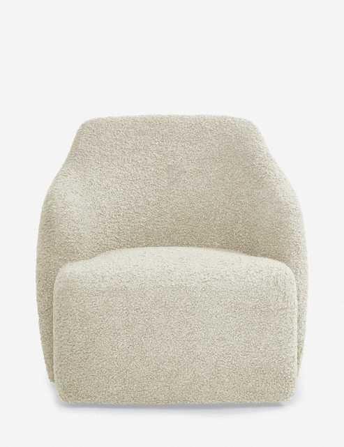 Tobi Swivel Chair, Cream - ships 14-16 weeks - Lulu and Georgia