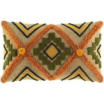 Haney Cotton Geometric Lumbar Pillow Cover - AllModern