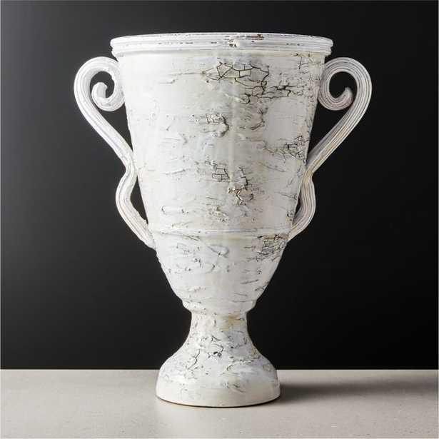 Troy Large White Vase - CB2
