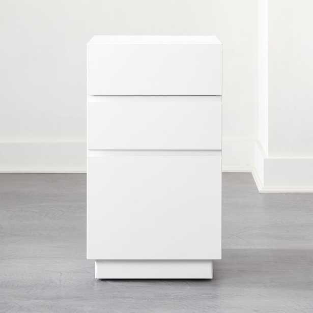 Hudson 3-Drawer White File Cabinet - CB2