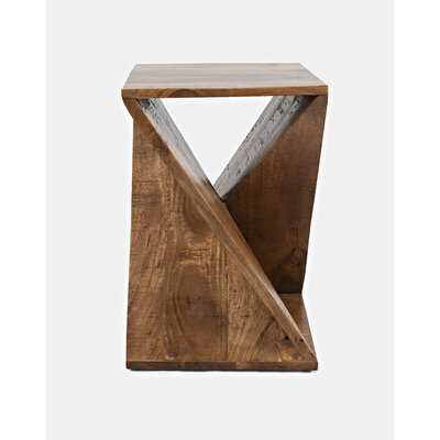 Leilla Solid Wood Abstract End Table - AllModern