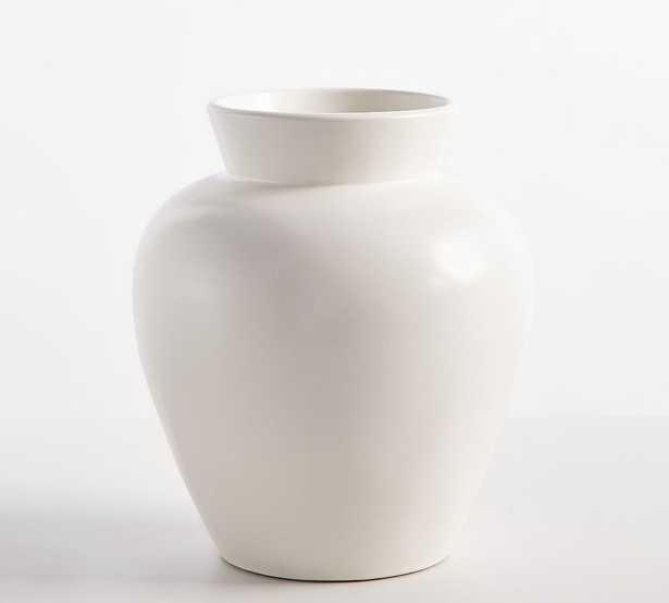 "Dalton Ceramic Vase, White, Large, 14.75""H - Pottery Barn"
