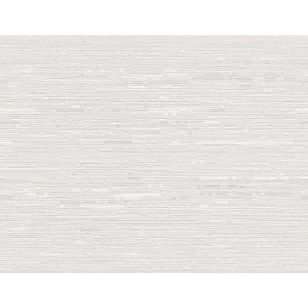 Seabrook Designs Cove Grasscloth Bone Embossed Vinyl Wallpaper, Ivory - Home Depot