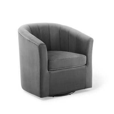 Ziaa Performance Velvet Swivel Barrel Chair - Wayfair