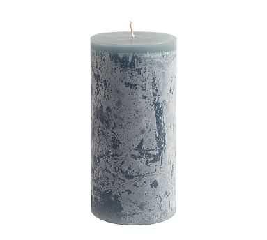 """Scented Timber Pillar Candles, Flint Blue, Blackberry Yuzu, 3"""" x 6"""" - Pottery Barn"""