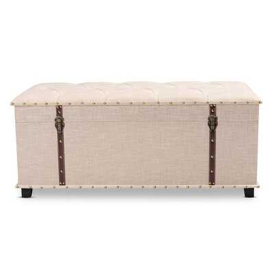 MoretinMarsh Vintage Inspired Upholstered Storage Trunk Tufted Ottoman - Wayfair