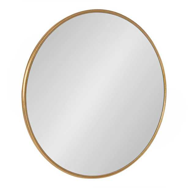 Kate and Laurel Caskill Round Gold Wall Mirror - Home Depot
