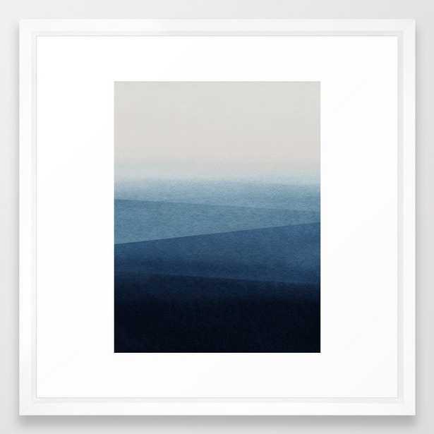 Blue Fade Framed Art Print by Georgiana Paraschiv - Vector White - MEDIUM (Gallery)-22x22 - Society6