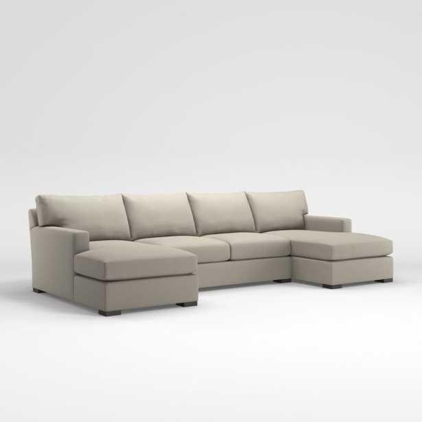 Axis 3-Piece Sectional - Icon, Pearl - Crate and Barrel