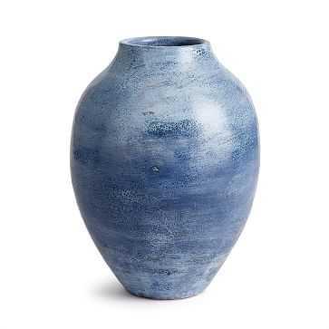 Caspian Ceramic Vase, Blue Ombre - West Elm