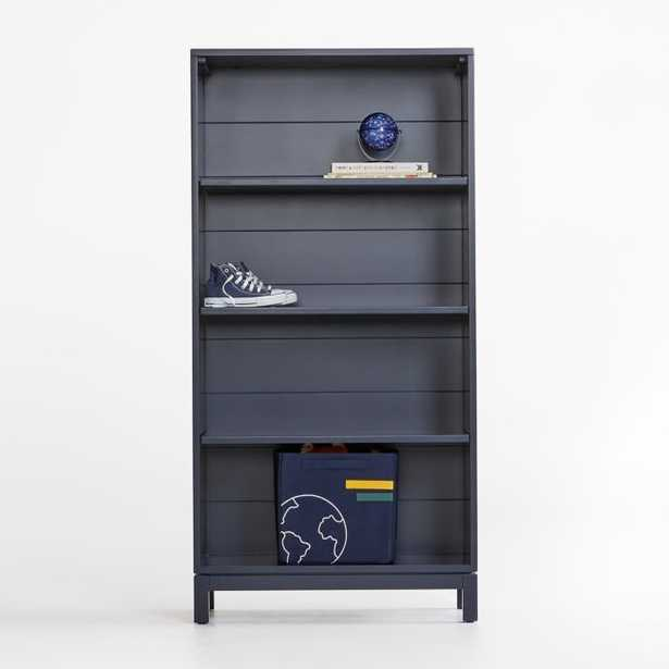Parke Navy Blue Bookcase - Crate and Barrel