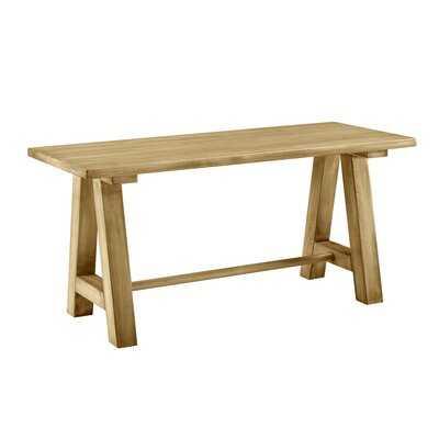 Effie Farmhouse Wood Bench - Wayfair