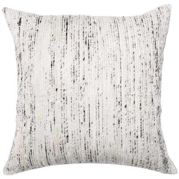"Woven Throw Pillow, 22"" x 22"", Gray - Loma Threads"