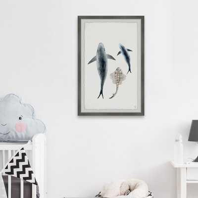 Chisholm 'Sharks and the Ray' Framed Art - Wayfair
