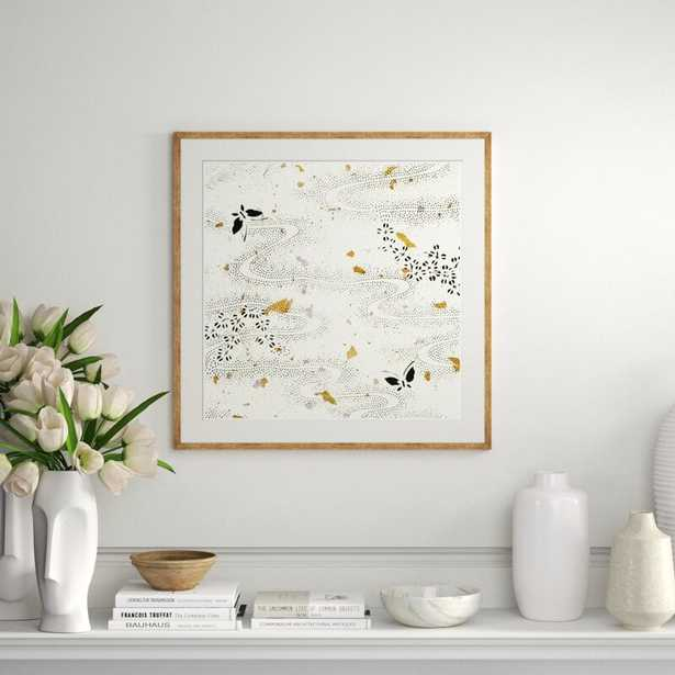 Soicher Marin 'Japanese Textile Collage XXII' - Picture Frame Graphic Art Print on Paper - Perigold