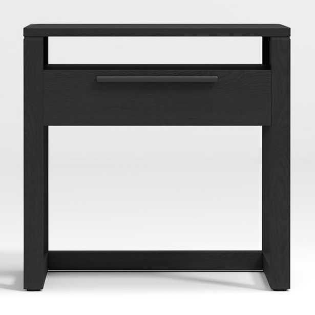 Linea Black Nightstand - Crate and Barrel