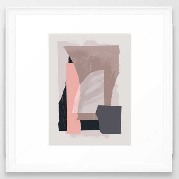 Pieces 15 Framed Art Print by Mareike BaPhmer - Scoop White - MEDIUM (Gallery)-22x22 - Society6