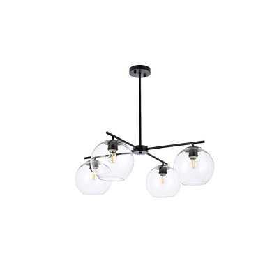Rhoades 4 - Light Sputnik Sphere Chandelier - Wayfair