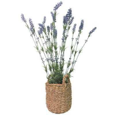 29'' Artificial Flowering Plant in Basket - Wayfair
