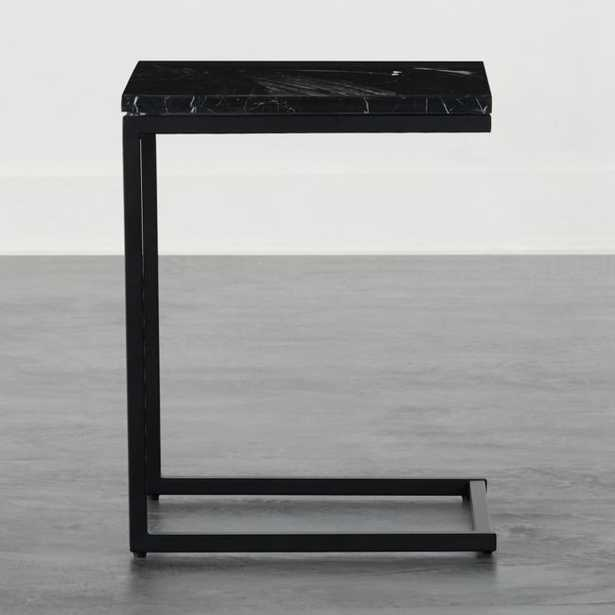 Smart Black C Table with Black Marble Top - CB2