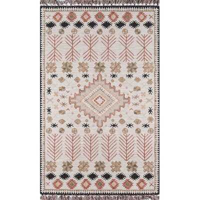 Bronte Southwestern Hand Hooked Wool Pink/Beige Area Rug - Wayfair