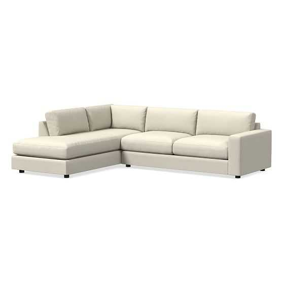 Urban Sectional Set 20: Right Arm 3 Seater Sofa, Left Arm Terminal Chaise, Down Blend, Performance Basketweave, Natural - West Elm