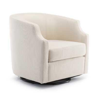 Ambrosio Swivel Barrel Chair - Wayfair