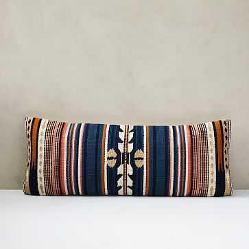 Woven Baja Pillow Cover, Midnight - West Elm