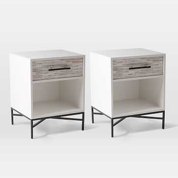 Tiled Nightstand, White, Set of 2 - West Elm