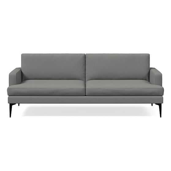 Andes Futon, Performance Washed Canvas, Feather Gray, Dark Pewter - West Elm