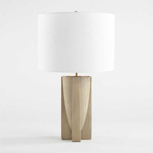 Lars Concrete Table Lamp - Crate and Barrel