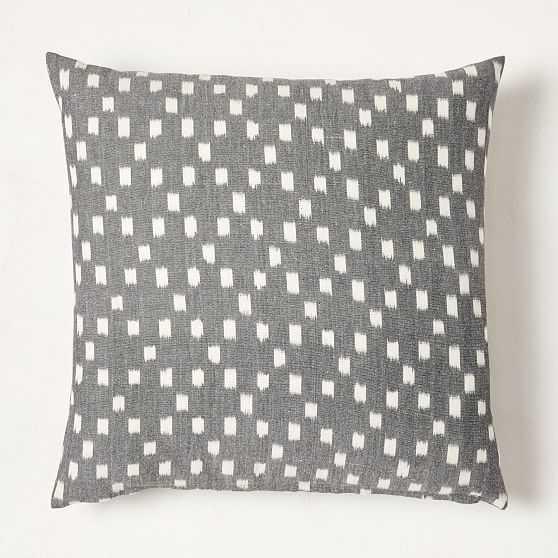 "Diamond Ikat Pillow Cover, 20""x20"", Slate - West Elm"