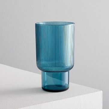 Fluted Acrylic Glassware, Highball, Silver Pine - West Elm