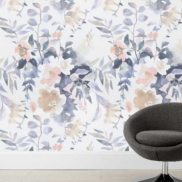"Watercolor Floral Wallpaper, Multi, 36"" x 108"" - Pottery Barn Teen"