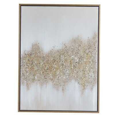 Rectangular Gold and Gray Abstract Textured - Picture Frame Painting Print on Canvas - Wayfair