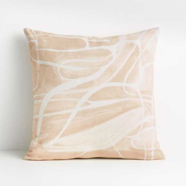 "Alentsie 20"" Cream Cotton Pillow with Down-Alternative Insert - Crate and Barrel"