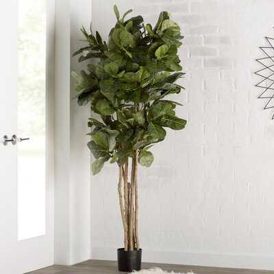 "72"" Artificial Foliage Tree in Planter - Wayfair"
