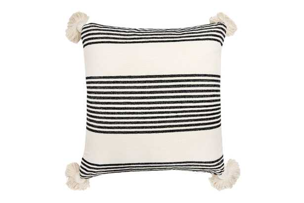 Perry Striped Pillow, Black - Cove Goods