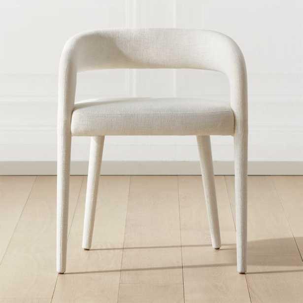 Lisette White Dining Chair - shipping in November - CB2