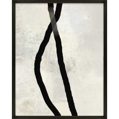 Black Rope 4 by Jacques Pilon - Picture Frame Painting Print on Paper - AllModern