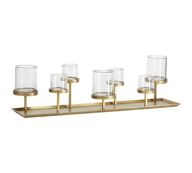 Draper Brass Pillar Candle Centerpiece, One Size - Pottery Barn