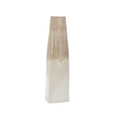 Raoul Beige/Ivory Ceramic Floor Vase - Wayfair