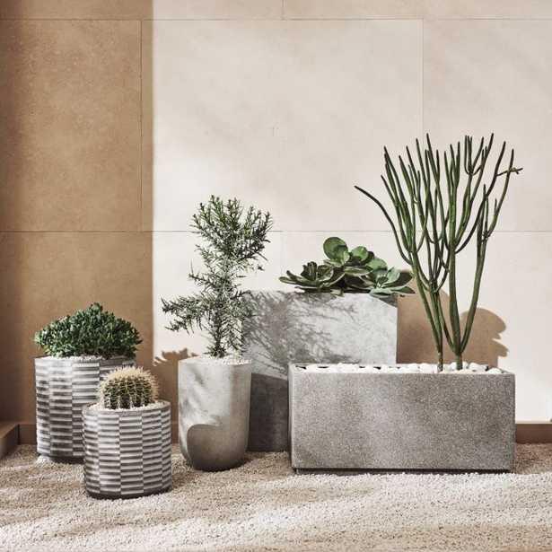 Stone Grey Planter Set - CB2