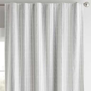 "Riley Stripe Blackout Curtain Panel, 84"", Navy/White - Pottery Barn Teen"